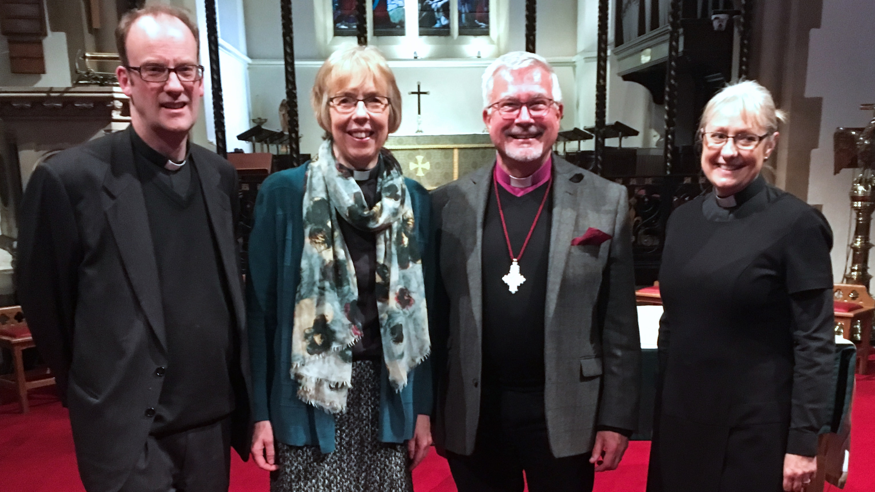 St Luke's Kick Off Feb 11 2018 Bishop Andrew Fr Jeremy Rev Sally Rev Joan YOM KO banner.jpg